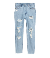 H&M Slim Mom Jeans Trashed • H&M • $34.99