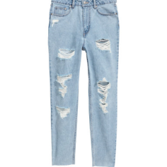 H&M Slim Mom Jeans Trashed • H&M • $34.99