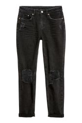 Express black high waisted distressed knee stretch jean leggings • Express • $79.90