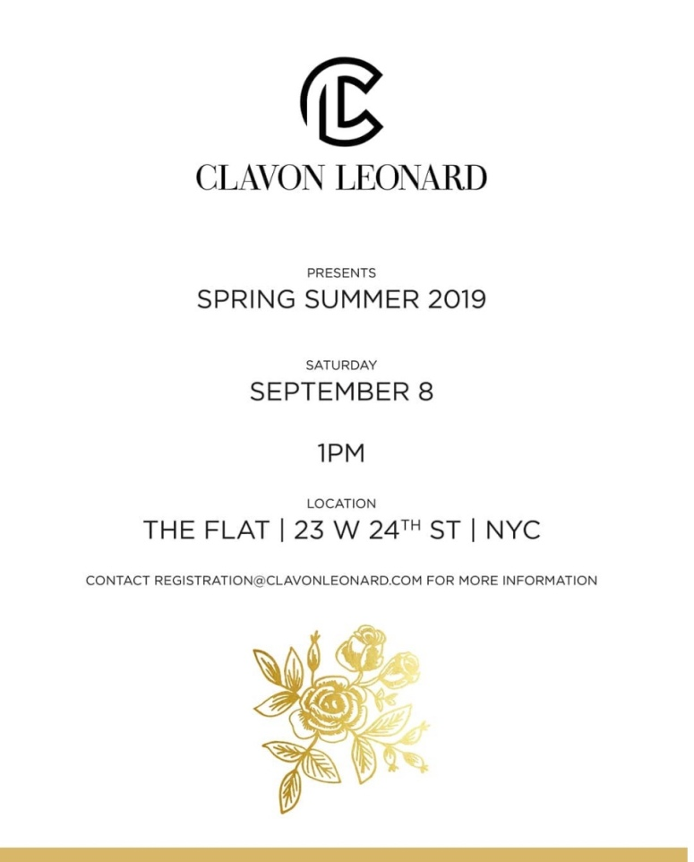 Clavon Leonard SS19 Invitation